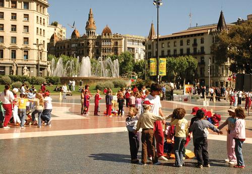 التنزه في برشلونة