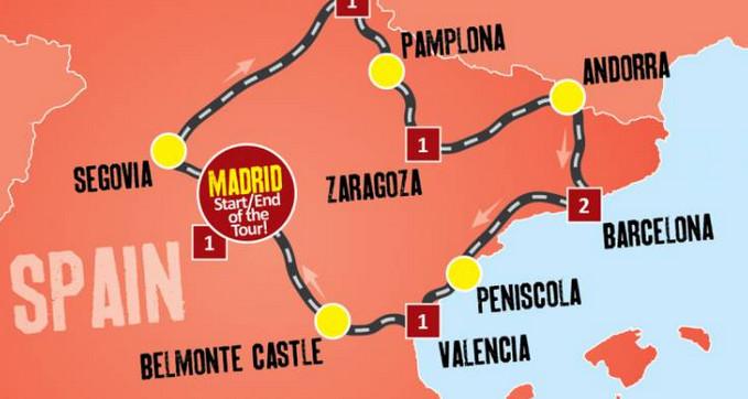Photo of خريطة اسبانيا السياحية أهم الاماكن السياحية بها